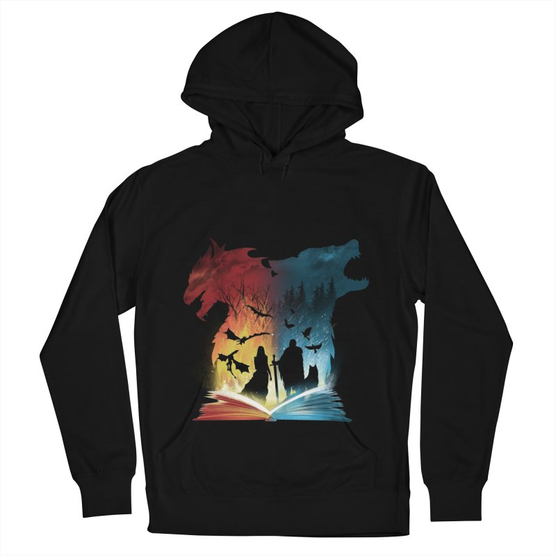 Book of Fire and Ice Men's French Terry Pullover Hoody by dandingeroz's Artist Shop