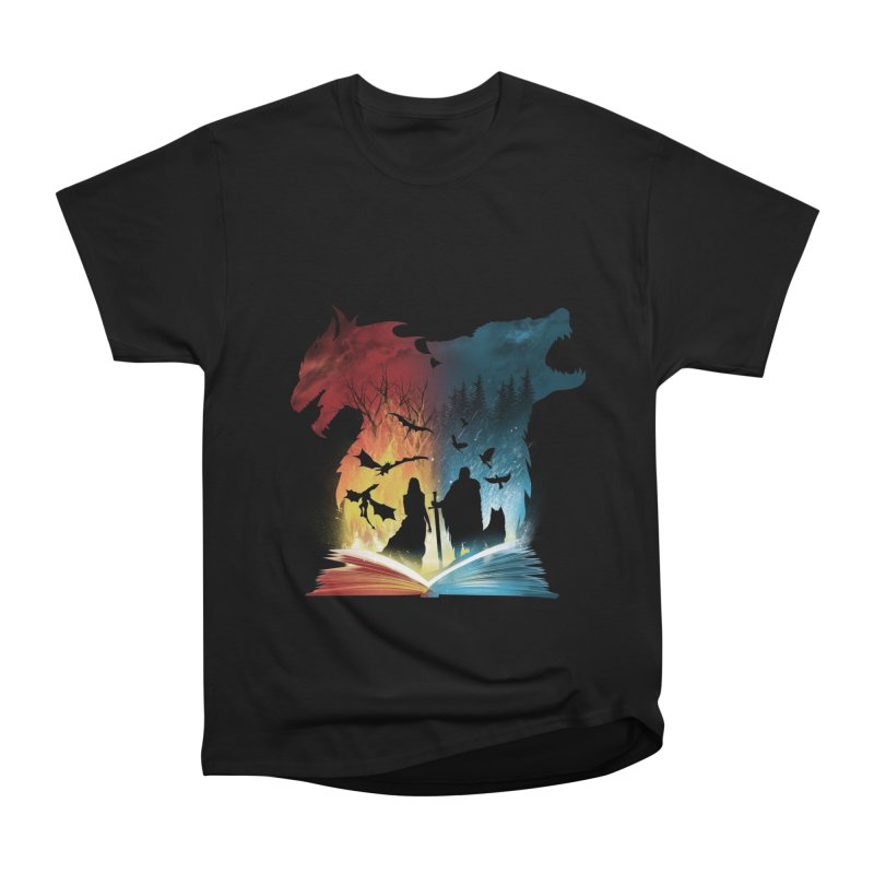 Book of Fire and Ice Women's Heavyweight Unisex T-Shirt by dandingeroz's Artist Shop
