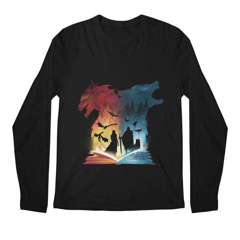 Book of Fire and Ice Men's Longsleeve T-Shirt by dandingeroz's Artist Shop