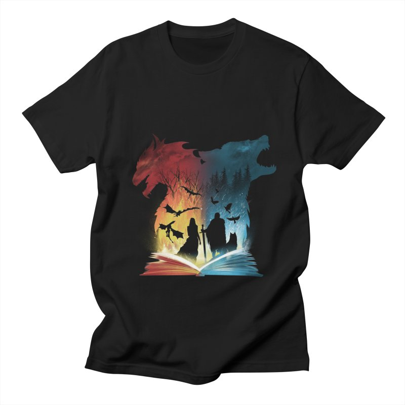 Book of Fire and Ice Men's Regular T-Shirt by dandingeroz's Artist Shop