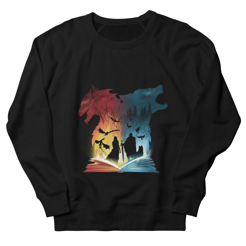 Book of Fire and Ice Men's French Terry Sweatshirt by dandingeroz's Artist Shop