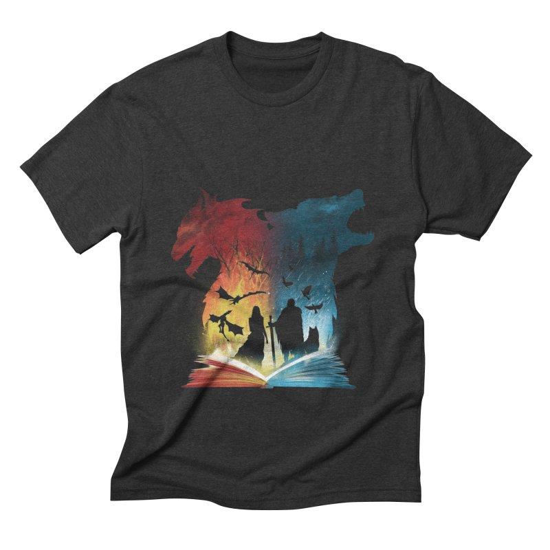 Book of Fire and Ice Men's Triblend T-Shirt by dandingeroz's Artist Shop