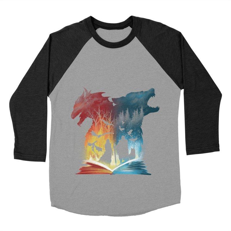 Book of Fire and Ice Men's Baseball Triblend Longsleeve T-Shirt by dandingeroz's Artist Shop