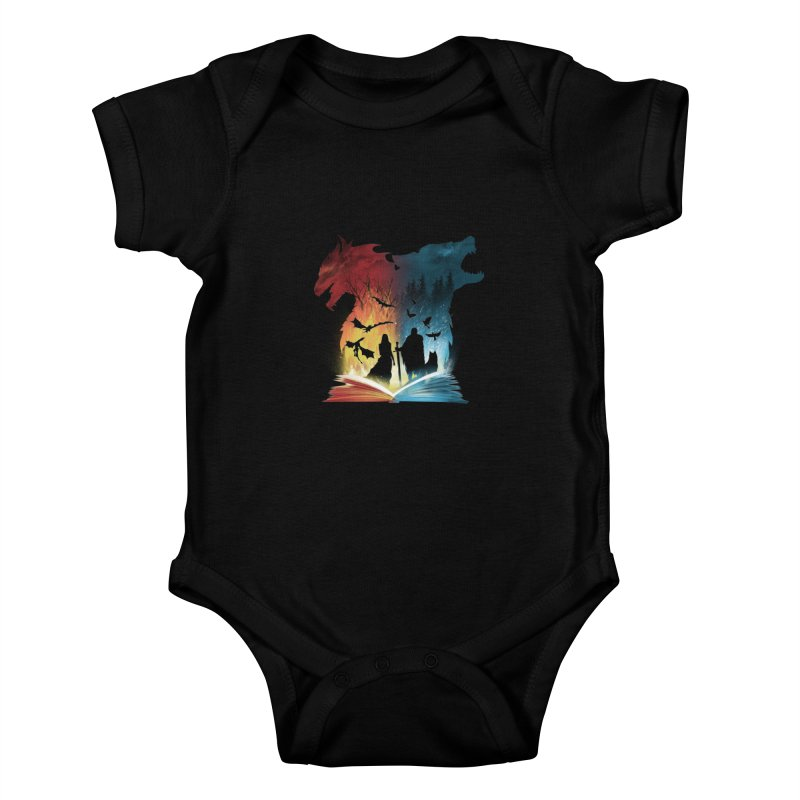 Book of Fire and Ice Kids Baby Bodysuit by dandingeroz's Artist Shop