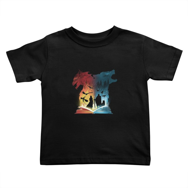 Book of Fire and Ice Kids Toddler T-Shirt by dandingeroz's Artist Shop