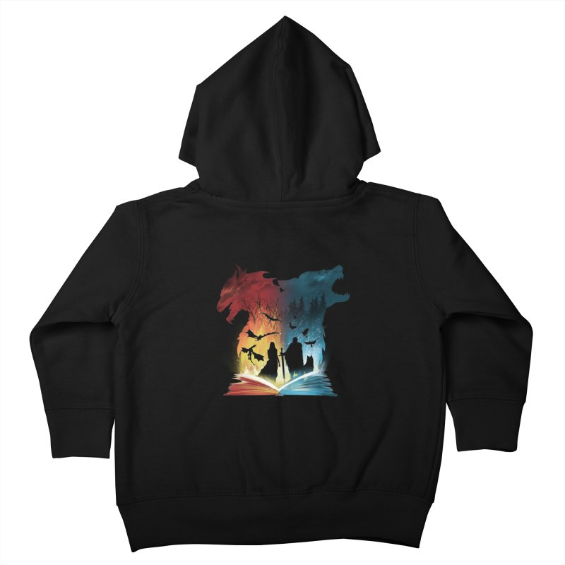 Book of Fire and Ice Kids Toddler Zip-Up Hoody by dandingeroz's Artist Shop
