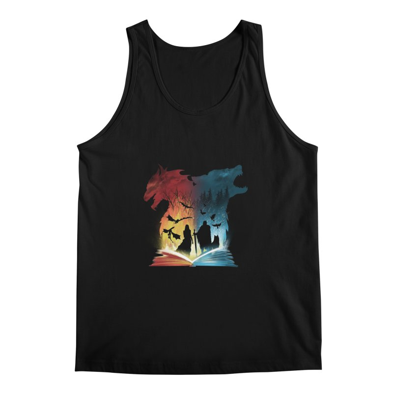 Book of Fire and Ice Men's Tank by dandingeroz's Artist Shop