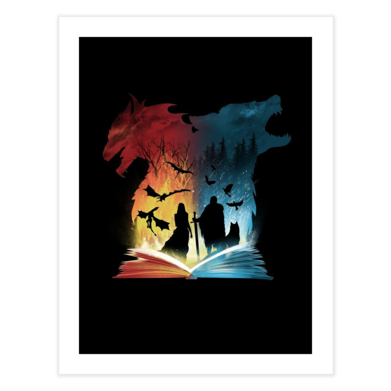 Book of Fire and Ice Home Fine Art Print by dandingeroz's Artist Shop