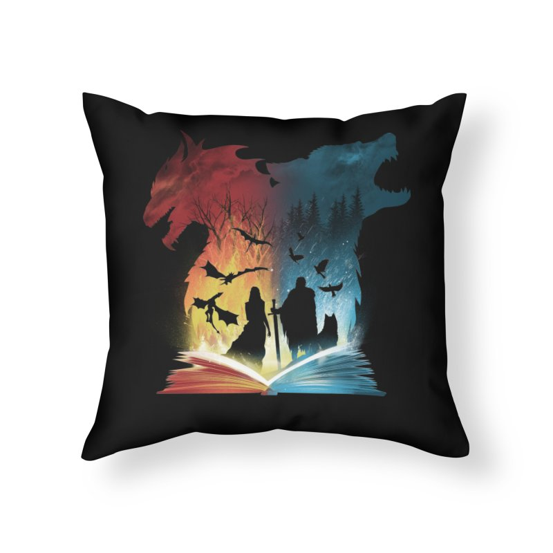 Book of Fire and Ice Home Throw Pillow by dandingeroz's Artist Shop