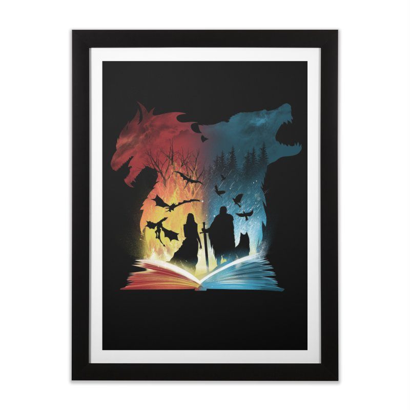 Book of Fire and Ice Home Framed Fine Art Print by dandingeroz's Artist Shop