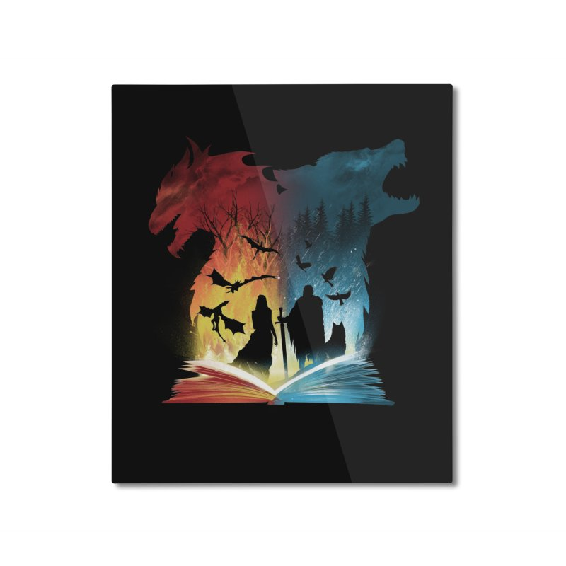 Book of Fire and Ice Home Mounted Aluminum Print by dandingeroz's Artist Shop