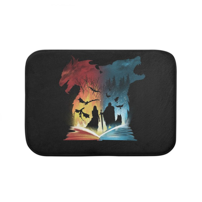 Book of Fire and Ice Home Bath Mat by dandingeroz's Artist Shop