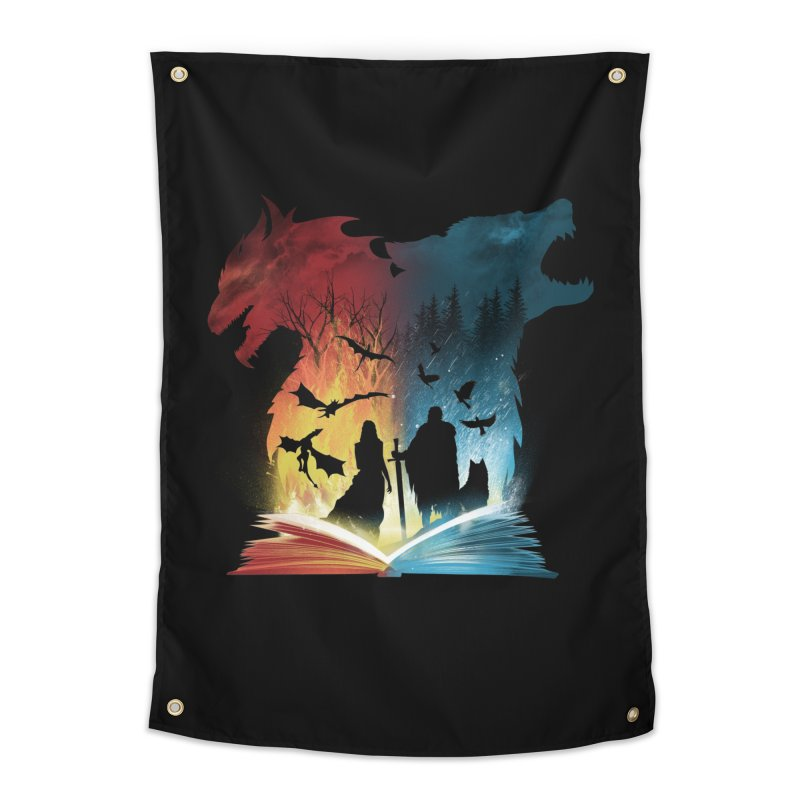 Book of Fire and Ice Home Tapestry by dandingeroz's Artist Shop