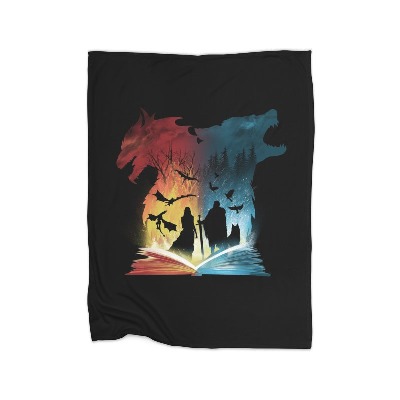 Book of Fire and Ice Home Blanket by dandingeroz's Artist Shop
