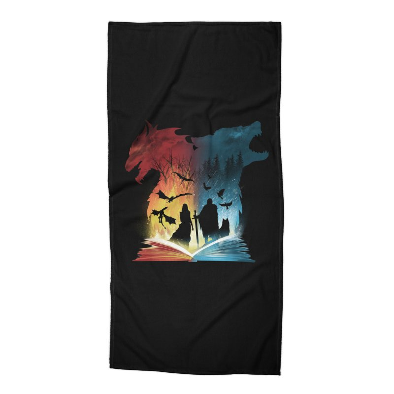Book of Fire and Ice Accessories Beach Towel by dandingeroz's Artist Shop