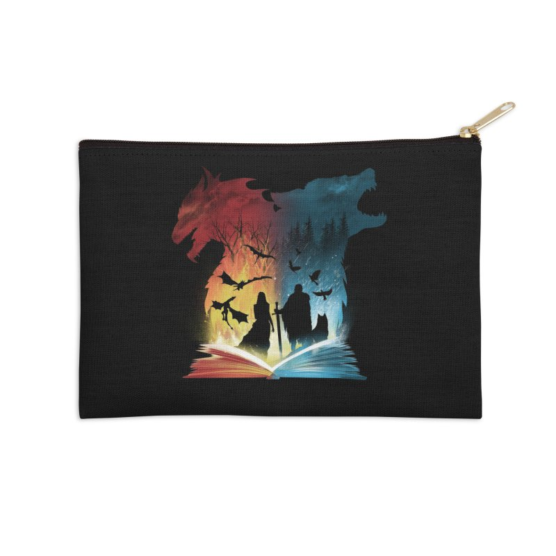 Book of Fire and Ice Accessories Zip Pouch by dandingeroz's Artist Shop