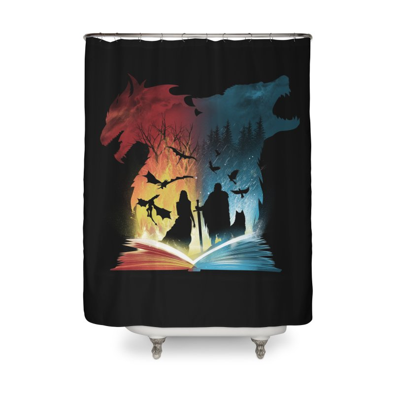 Book of Fire and Ice Home Shower Curtain by dandingeroz's Artist Shop