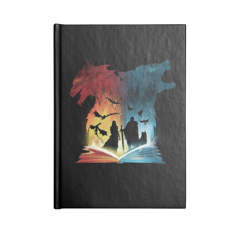 Book of Fire and Ice Accessories Notebook by dandingeroz's Artist Shop