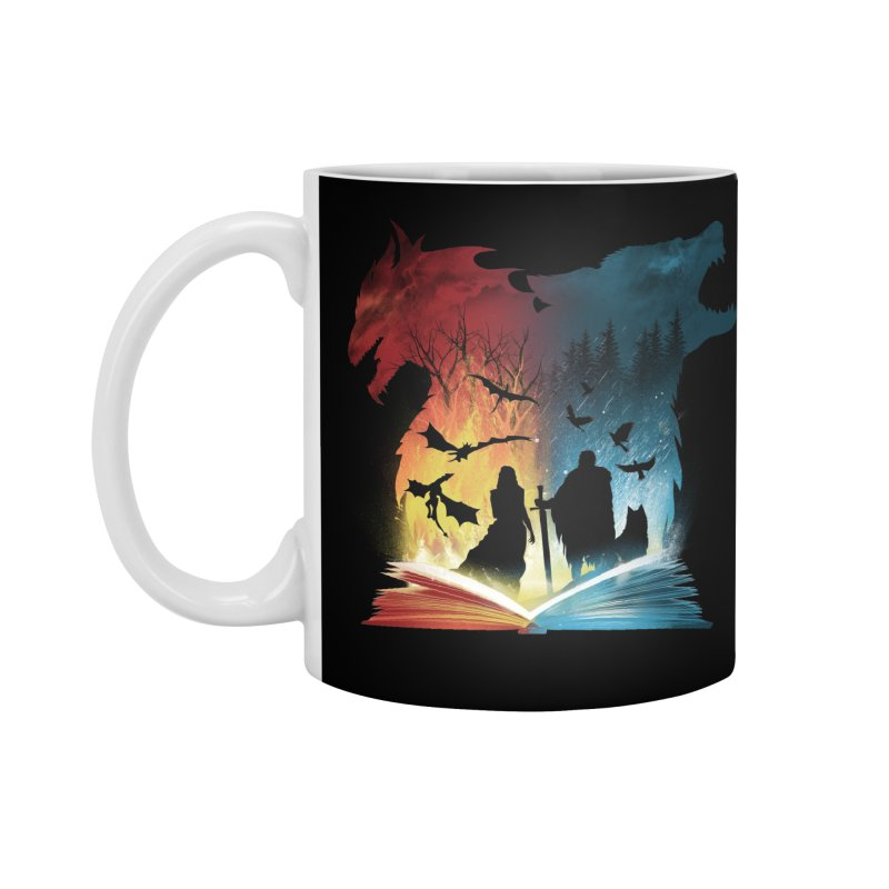 Book of Fire and Ice Accessories Mug by dandingeroz's Artist Shop