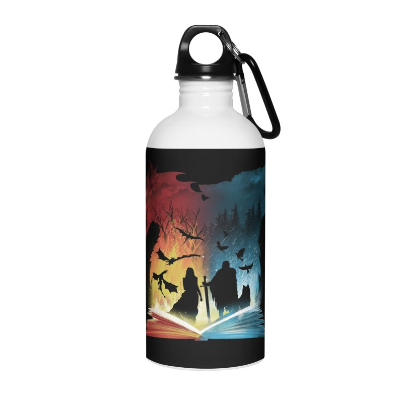 Book of Fire and Ice Accessories Water Bottle by dandingeroz's Artist Shop