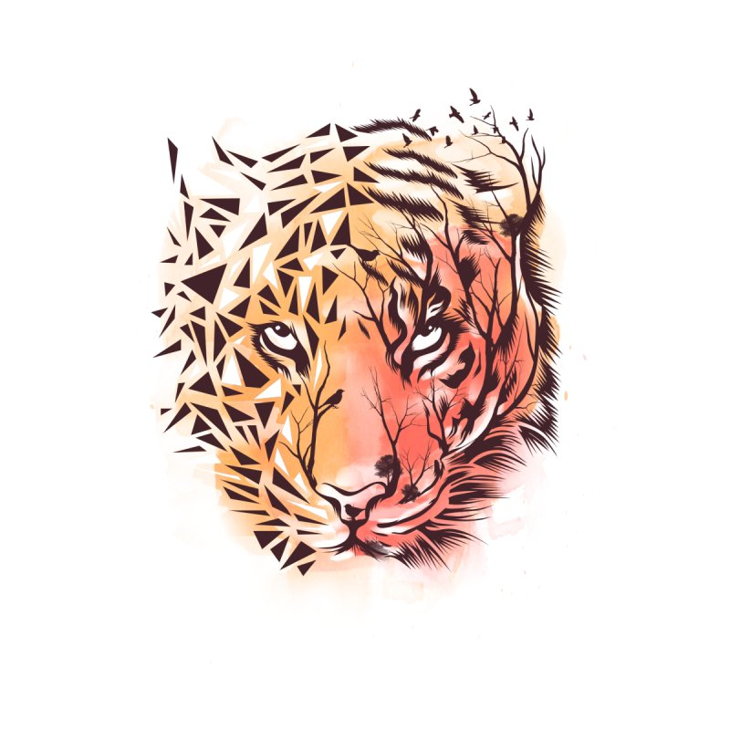 Geometrical Tiger by dandingeroz's Artist Shop