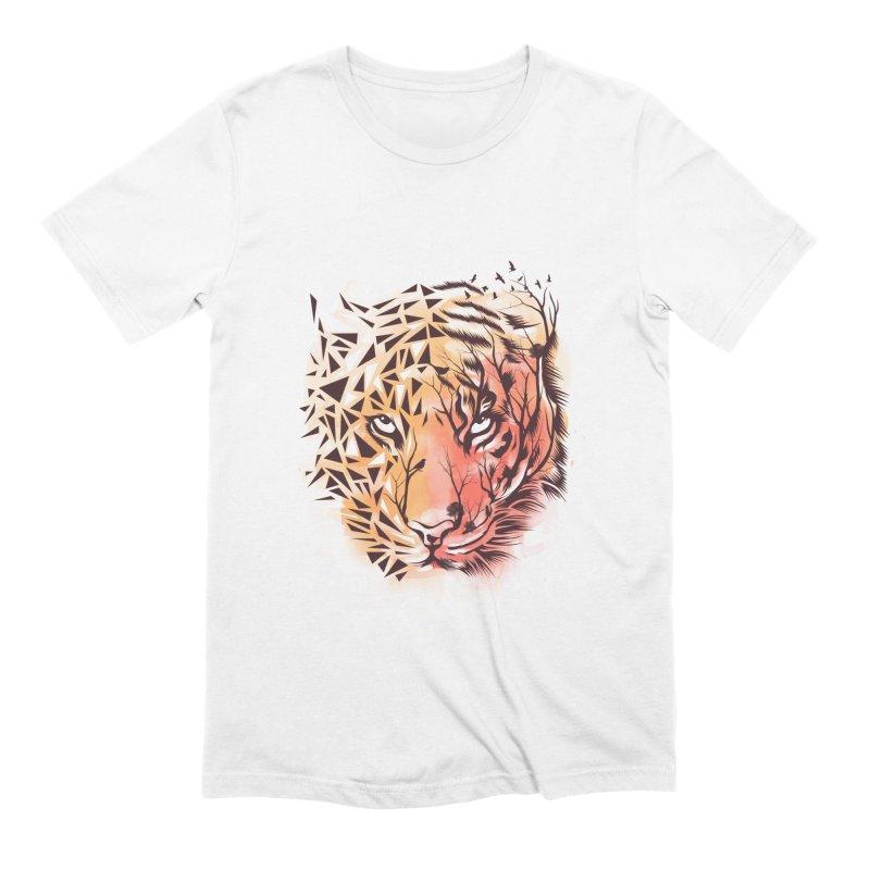 Geometrical Tiger Men's Extra Soft T-Shirt by dandingeroz's Artist Shop