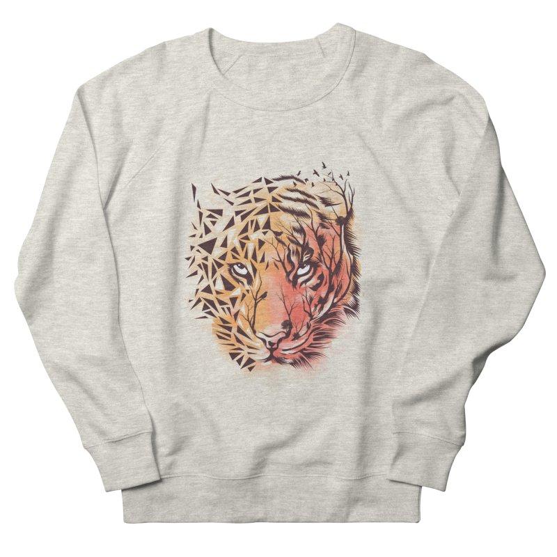 Geometrical Tiger Men's French Terry Sweatshirt by dandingeroz's Artist Shop