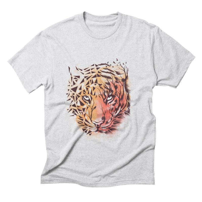 Geometrical Tiger Men's Triblend T-Shirt by dandingeroz's Artist Shop