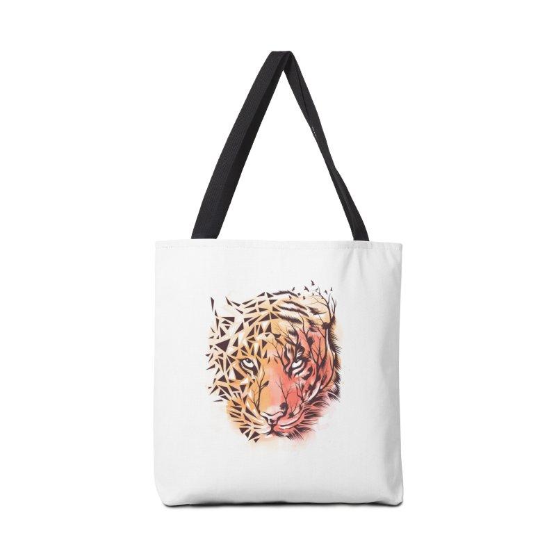 Geometrical Tiger Accessories Bag by dandingeroz's Artist Shop
