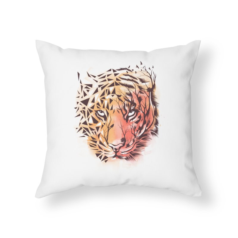 Geometrical Tiger Home Throw Pillow by dandingeroz's Artist Shop