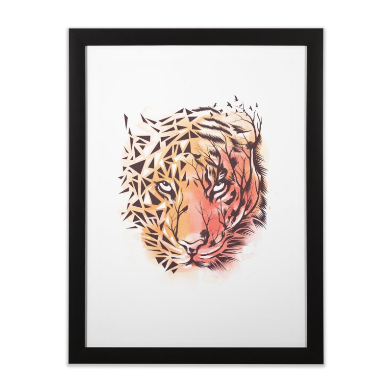 Geometrical Tiger Home Framed Fine Art Print by dandingeroz's Artist Shop