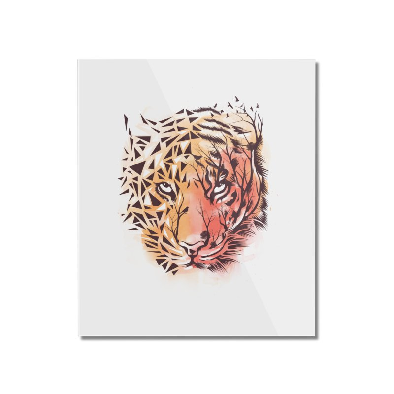 Geometrical Tiger Home Mounted Acrylic Print by dandingeroz's Artist Shop