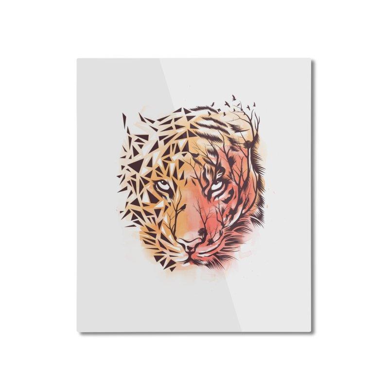 Geometrical Tiger Home Mounted Aluminum Print by dandingeroz's Artist Shop