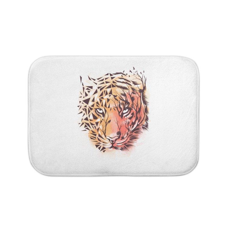 Geometrical Tiger Home Bath Mat by dandingeroz's Artist Shop