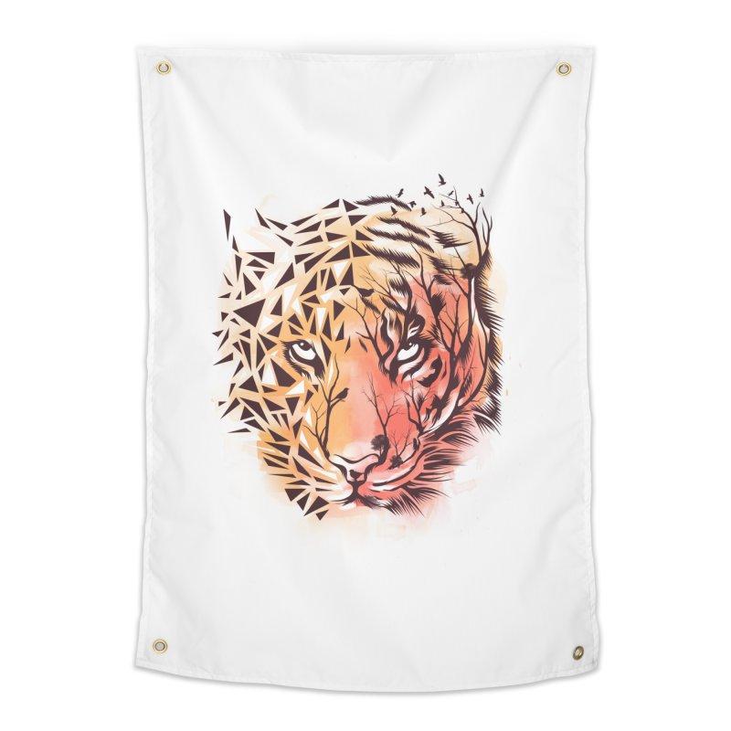 Geometrical Tiger Home Tapestry by dandingeroz's Artist Shop
