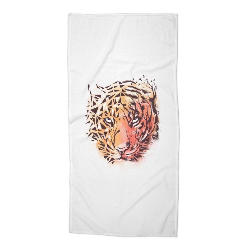 Geometrical Tiger Accessories Beach Towel by dandingeroz's Artist Shop