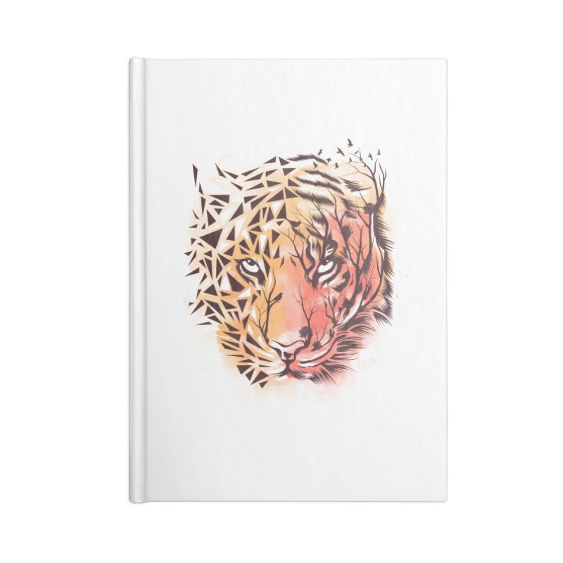 Geometrical Tiger Accessories Notebook by dandingeroz's Artist Shop