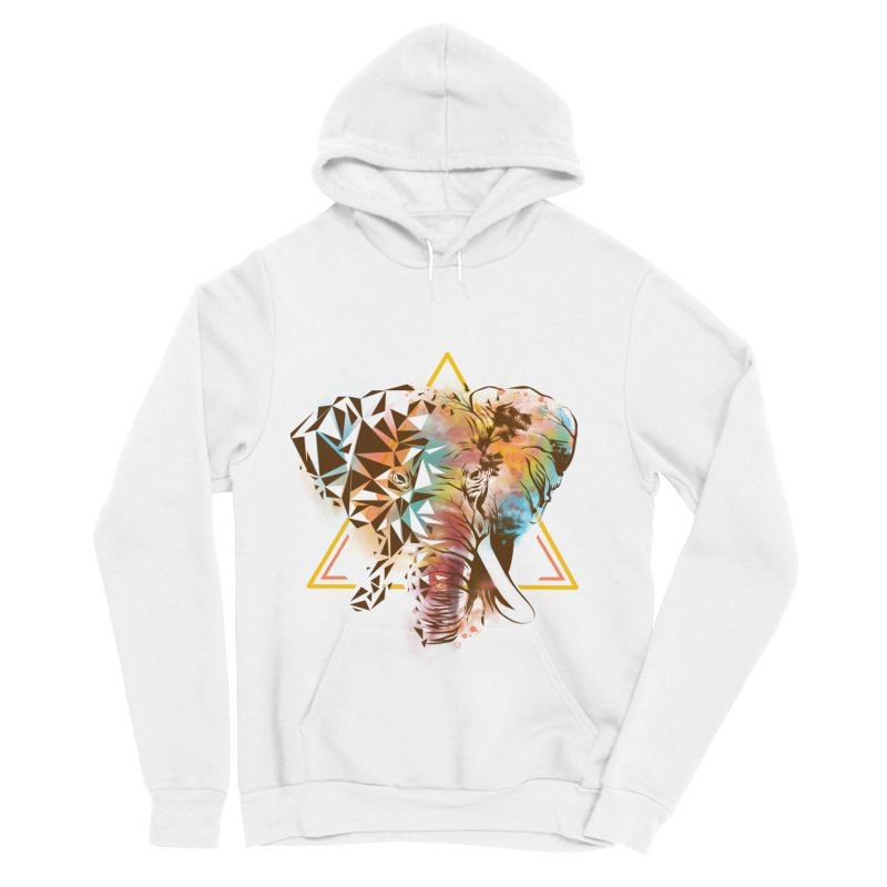 Geometric Elephant Women's Sponge Fleece Pullover Hoody by dandingeroz's Artist Shop