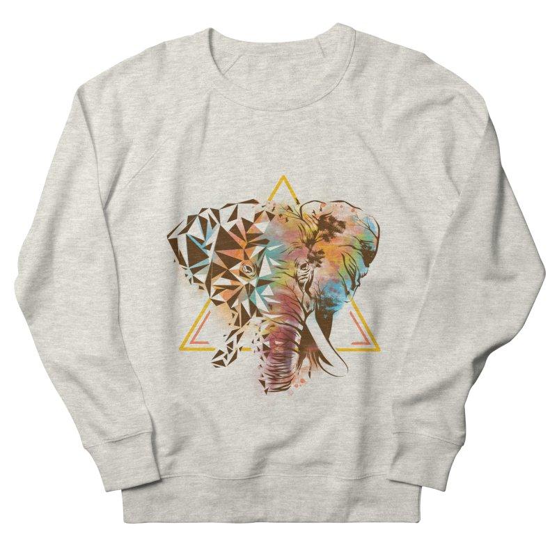 Geometric Elephant Men's French Terry Sweatshirt by dandingeroz's Artist Shop