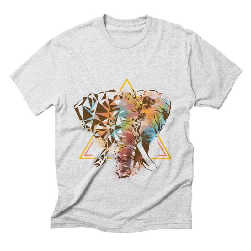 Geometric Elephant Men's Triblend T-Shirt by dandingeroz's Artist Shop