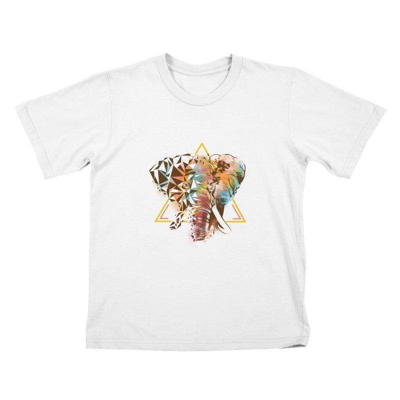 Geometric Elephant Kids Toddler T-Shirt by dandingeroz's Artist Shop