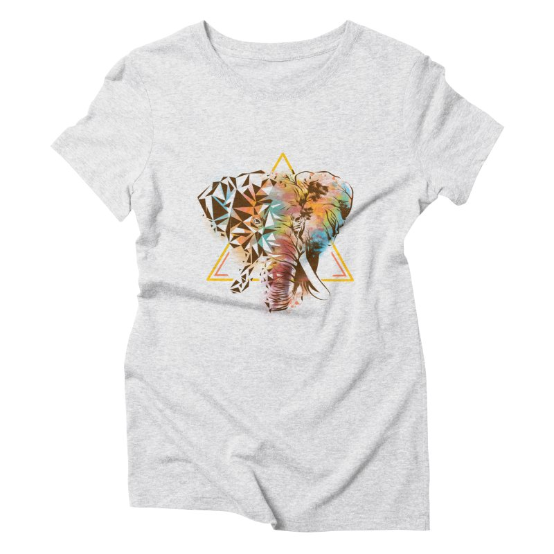 Geometric Elephant Women's Triblend T-Shirt by dandingeroz's Artist Shop