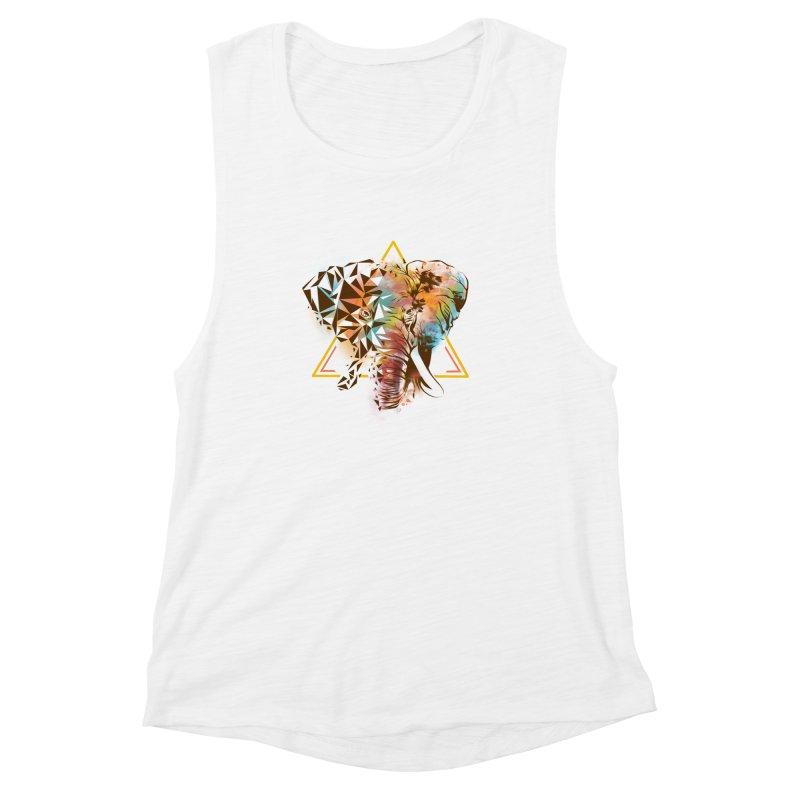 Geometric Elephant Women's Muscle Tank by dandingeroz's Artist Shop