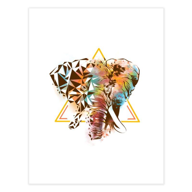 Geometric Elephant Home Fine Art Print by dandingeroz's Artist Shop