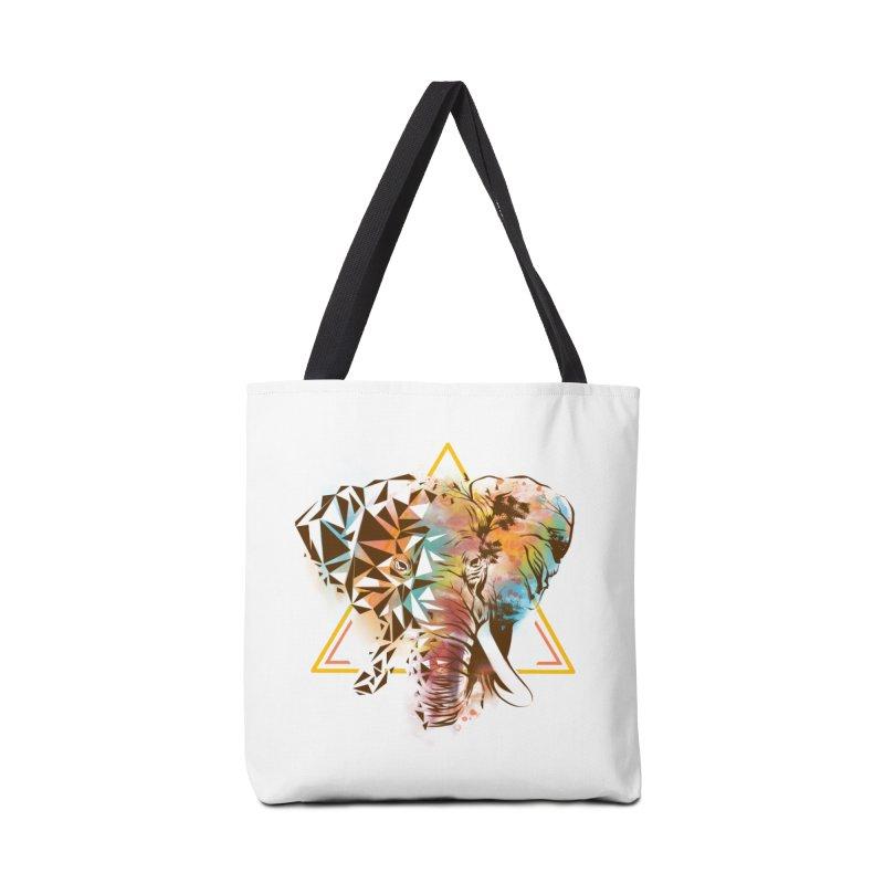 Geometric Elephant Accessories Bag by dandingeroz's Artist Shop