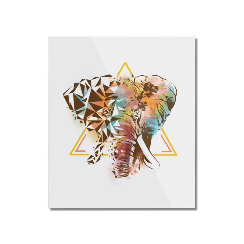 Geometric Elephant Home Mounted Acrylic Print by dandingeroz's Artist Shop