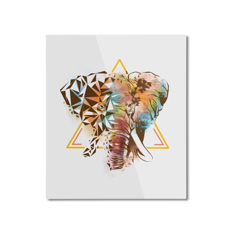 Geometric Elephant Home Mounted Aluminum Print by dandingeroz's Artist Shop