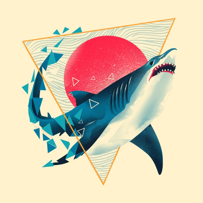 Geometric Shark by dandingeroz's Artist Shop