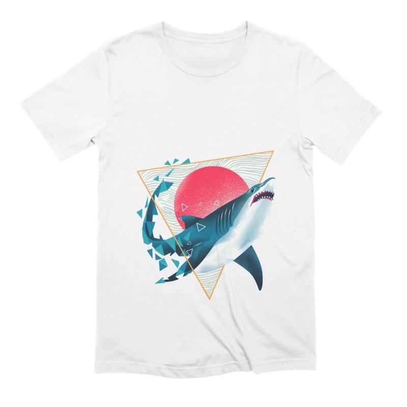 Geometric Shark Men's Extra Soft T-Shirt by dandingeroz's Artist Shop
