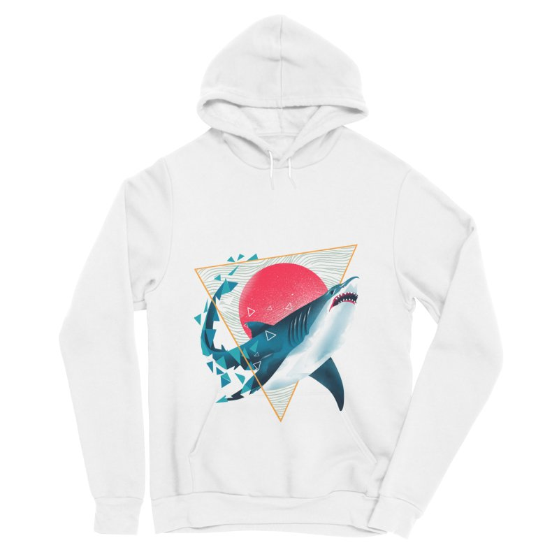 Geometric Shark Women's Sponge Fleece Pullover Hoody by dandingeroz's Artist Shop